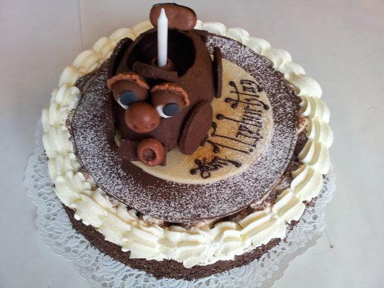 Schoggirahmtorte: Zum Geburtstag