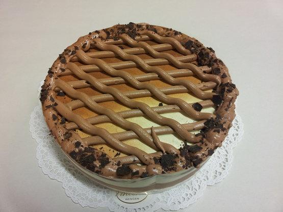Eis Torte Vanille Schokolade